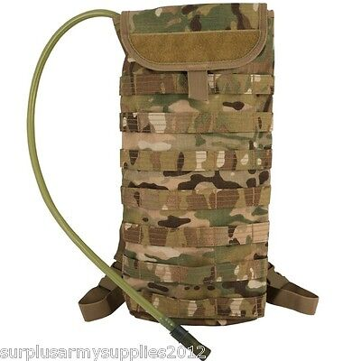 Multicam Aqua Bladder 2.5Litre Molle Water Carrier Mtp Hydration Army Hiking