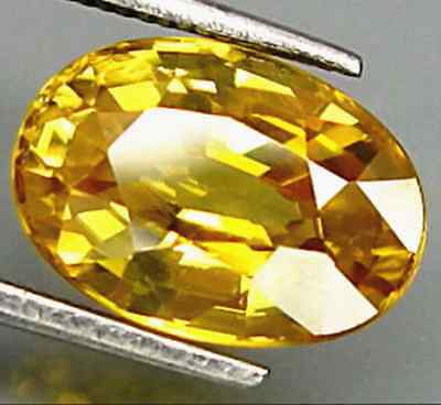 Unheated 8.45CT YELLOW SAPPHIRE 10X14MM OVAL SHAPE AAA COLOR LOOSE GEMSTONE