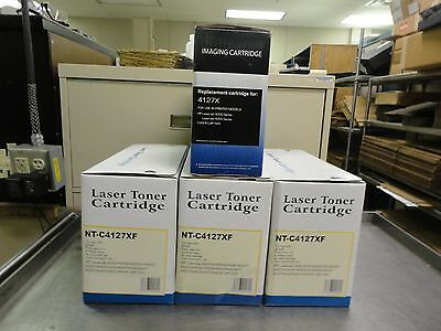 Lot of (4) Replacement Laser/Imaging Toner Cartridges NT-C4127XF/4127X