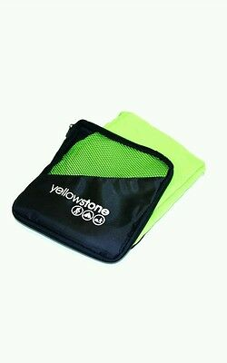 ,* Yellowstone Travel Microfibre Camping Gym Bath Towel - Green