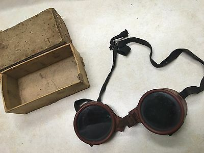 Vintage Wellsworth Safety / Welding Goggles in Box