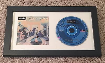 NOEL GALLAGHER SIGNED AUTOGRAPH OASIS DEFINITELY MAYBE FRAMED CD w/VIDEO PROOF