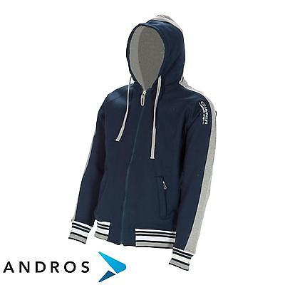 GIMER Fleece Hoodie with zipper junior Navy Junior