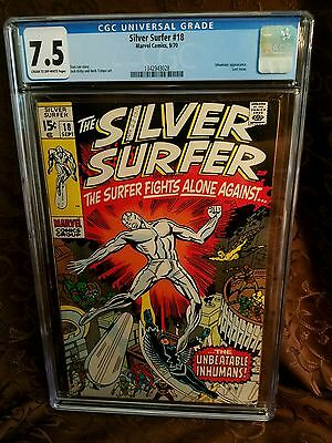 Silver Surfer 18 CGC 7.5 Inhumans app. And cover