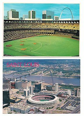 Busch Stadium St Louis Cardinals Live Game Action MLB Postcards Lot of (2)