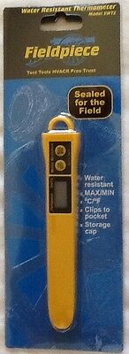Fieldpiece SWT2 Water Resistant Digital Pocket Thermometer  - 58 to 392 F New!