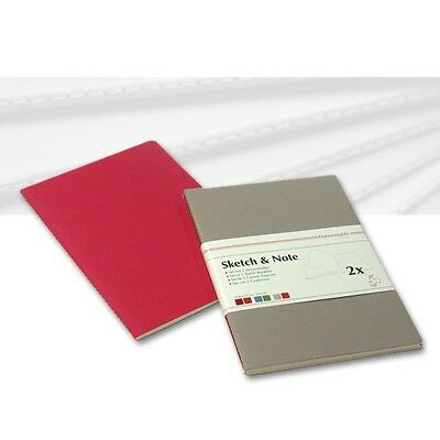 Skizzenheft Sketch & Note, Grey-Fuchsia A3 hoch 125g/m², 40 Seiten, 2er Set