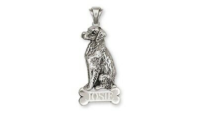 Brittany Dog Personalized Pendant Handmade Sterling Silver Dog Jewelry BR2-NP