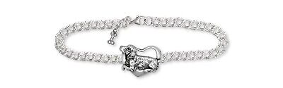 Brittany Dog Bracelet Handmade Sterling Silver Dog Jewelry BR3-B