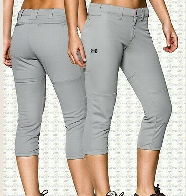 Under Armour Women's Ua Strike Zone Softball.pants Large Gray 1242352 Nwt