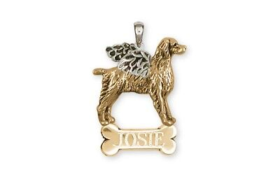 Brittany Angel Pendant 14k Two Tone Gold Vermeil Dog Jewelry BR7-ANPVM