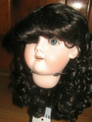 SIZE 9 ANIKA WIG  MOHAIR SYNTHETIC  MED BROWN  MODERN ANTIQUE DOLL