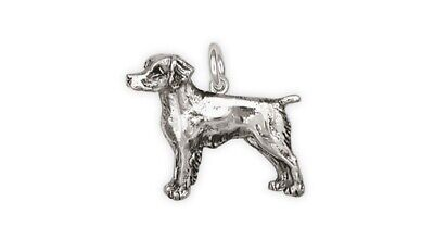 Brittany Dog Charm Handmade Sterling Silver Dog Jewelry BS1-C