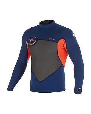NEW QUIKSILVER™  Mens Syncro 1.5MM Mesh Wetsuit Jacket Surf