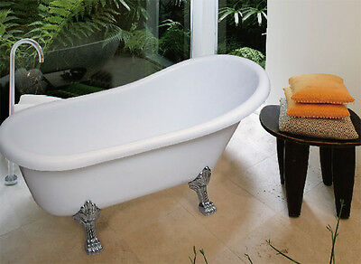 Clearance Claw foot Freestanding Bathtub 1700 x 750 x 500 - With Overflow Kit