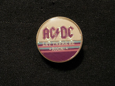 Ac/dc Vintage Prismatic Cloisone Pin Button Badge Uk Import