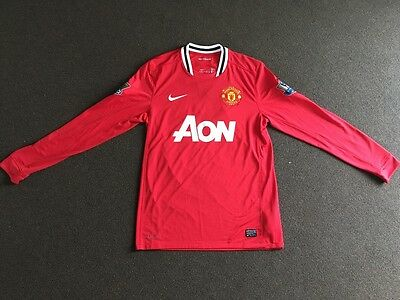 more photos 18e6f 7eca1 AUTHENTIC BNWT MANCHESTER United 09/10 Scholes Size M home jersey