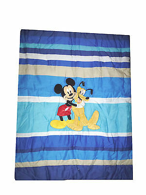 Disney - My Pal - Mickey Mouse & Pluto   Appliqued Crib Comforter - quilt