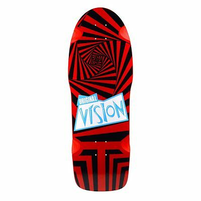"Vision - Original Vision Black/Red 10.0"" Resissue Skateboard Deck"