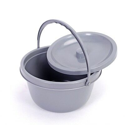 High-impact polyethylene  Replacement Commode bucket with Lid + handle