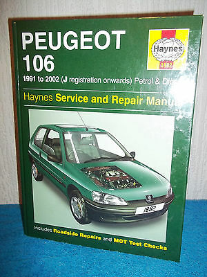 Haynes Workshop Manual - Peugeot 106 (Petrol & Diesel) - 1991 - 2002 (J Onwards)
