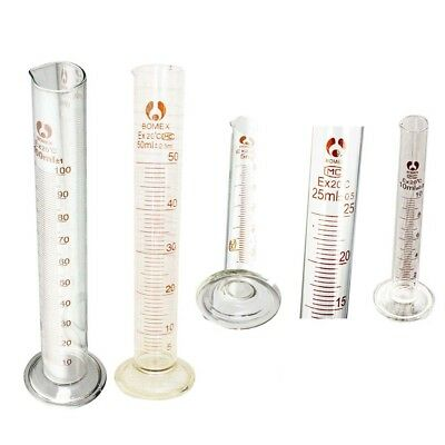 Graduated Glass Measuring Cylinder Chemistry Laboratory Measure WS
