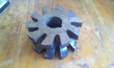 """HSS Concave milling Cutter 3/4"""" OD 3"""" Slotted Bore: 1""""  ESC"""