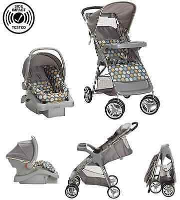 Baby Travel System Infant Car Seat Carriage Base Stroller Pushchair Folding NEW