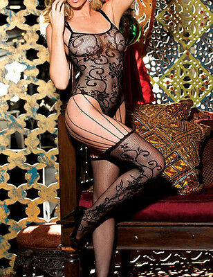 Catsuit Sexy Pizzo Hot Donna Full Body Calze Lingerie Rete Bodystocking Fishnet