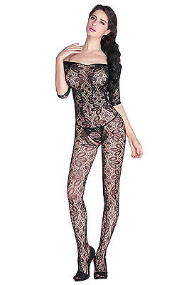 Catsuit Sexy Pizzo Donna Hot Full Body Lingerie Calze Rete Bodystocking Fishnet