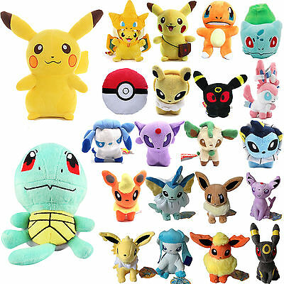 Pokemon Go Pikachu Eevee Squirtle Bulbasaur Charmander Plush Stuffed Doll Toys