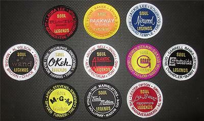Northern Soul Patch - Set Of 11 Soul Legends Patches - Wigan Casino