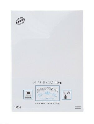 Crown Mill A4 Watermarked 50xPaper White Vellum-Smooth