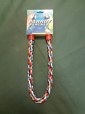 Parrot Parakeet Bird Rope Bendable Perch 21""