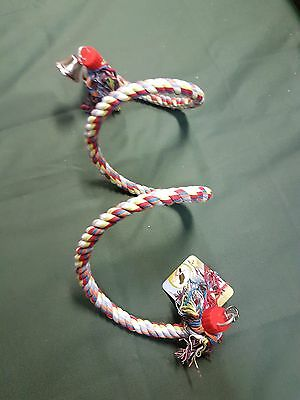 Parrot Parakeet Bird Rope Bendable Spring Spiral Perch Medium