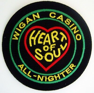 Northern Soul Patch - Wigan Casino Heart Of Soul - Green / Black