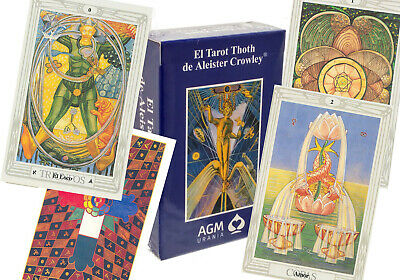 "SPANISH ""EL TAROT THOTH"" Tarot Deck Fortune Telling  Aleister Crowley 78-Cards"