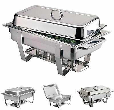 Pro Chef Chafing Dish Chafer with Water & Food Pan,Cover Chafing Fuel Holder