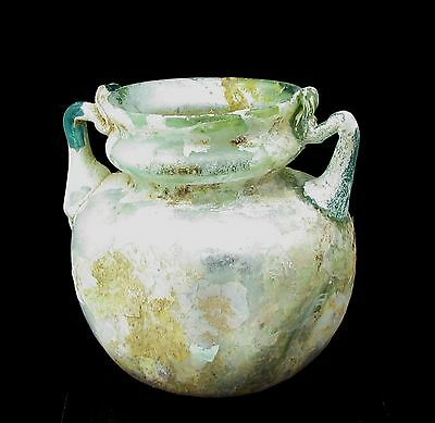 Roman Glass Ancient Jar G595
