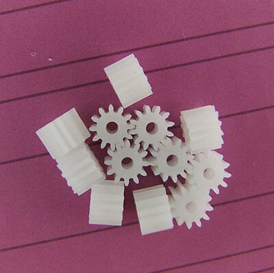 10x Spindle shaft Teeth plastic gear 12 teeth 2mm id 0.5 Modulus motor gear DIY