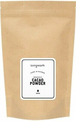 500g LOVING EARTH Raw Organic Cacao Powder