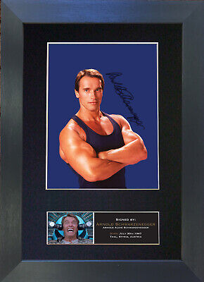 ARNOLD SCHWARZENEGGER Signed Mounted Autograph Photo Prints A4 466