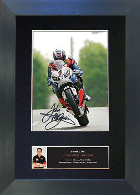 JOHN MCGUINNESS Signed Mounted Autograph Photo Prints A4 465