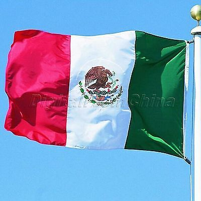 3x5ft Mexico Flag Mexican Country Flags Home Decor Banner Polyester Pennant
