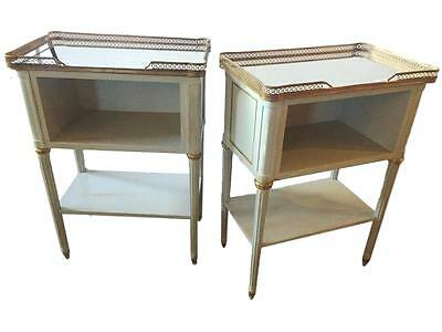Pair Of Fine Paint Decorated End Tables 101-302