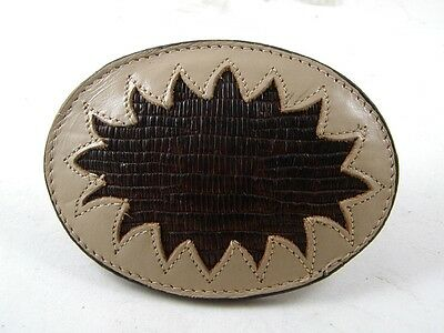 Western Cowboy Cowgirl Leather Belt Buckle New Old Store Stock 83116b