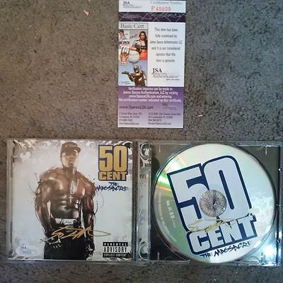 50 CENT JSA autographed cd and signed cover THE MASSACRE Curtis Jackson coa