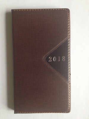 2018 POCKET Weekly Daily Dated Day Planner Calendar Appointment Book, BROWN