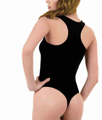 Kefali Ladies Racer Back Bodysuit Sports Body Leotard Undershirt Vest Top Thong