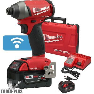 "M18 FUEL 1/4"" Hex Impact Driver with ONE-KEY Kit Milwaukee 2757-22 New"